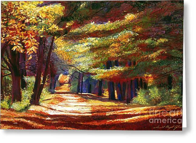 New England Autumn Greeting Cards - September Song Greeting Card by David Lloyd Glover