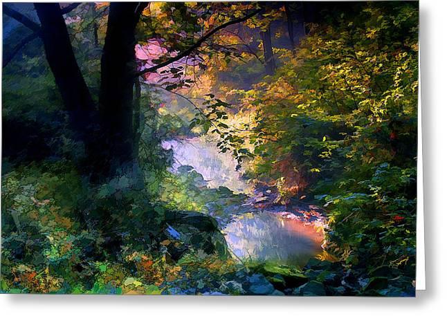 Stream Digital Art Greeting Cards - September Stream Greeting Card by Ron Jones