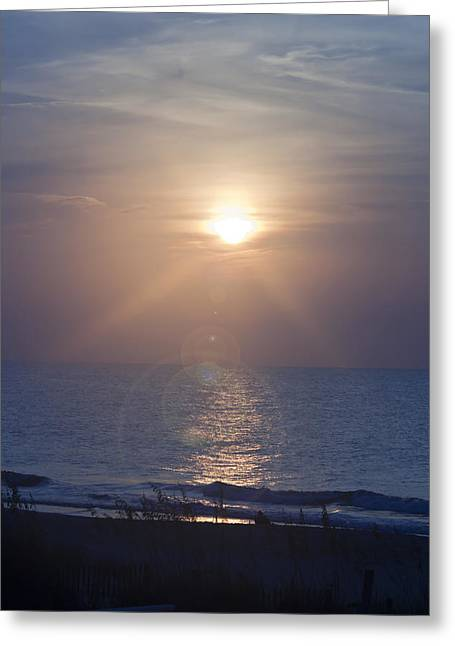 Atlantic Beaches Greeting Cards - September Sunrise 2 Greeting Card by Teresa Mucha