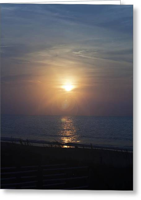 Atlantic Beaches Greeting Cards - September Sunrise Greeting Card by Teresa Mucha