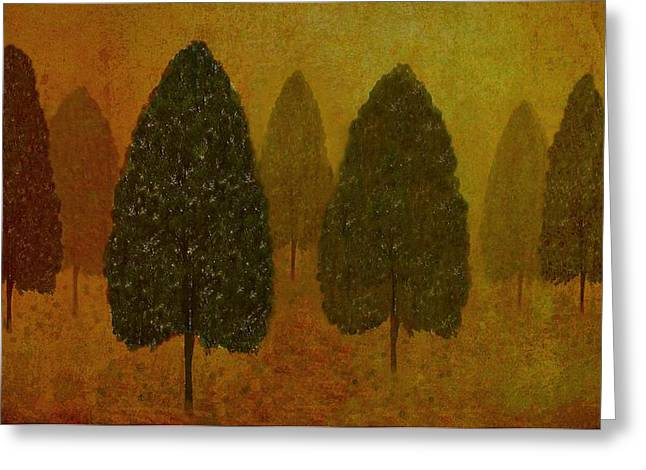 Bedroom Art Greeting Cards - September Trees  Greeting Card by David Dehner
