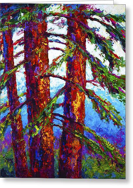 Scenic Greeting Cards - Sequoia Greeting Card by Marion Rose