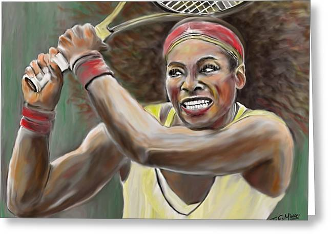 Serena Greeting Card by James  Mingo