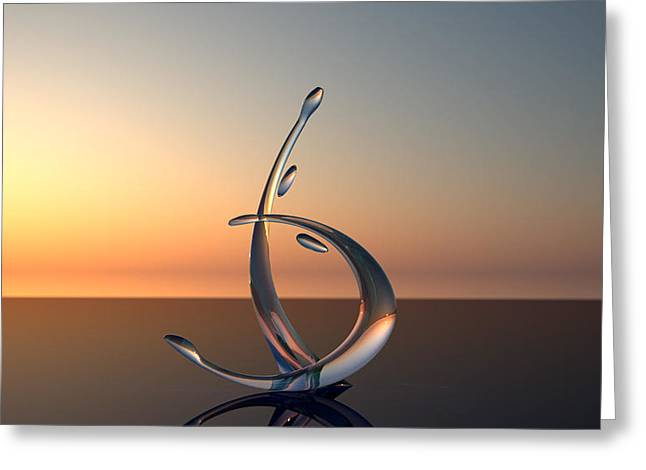 Contemporary Glass Art Greeting Cards - Serenade Greeting Card by Raffi Zaroukian