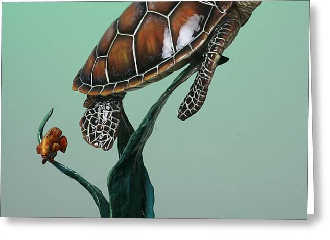 Serene Greeting Card by Elzubair Elzein