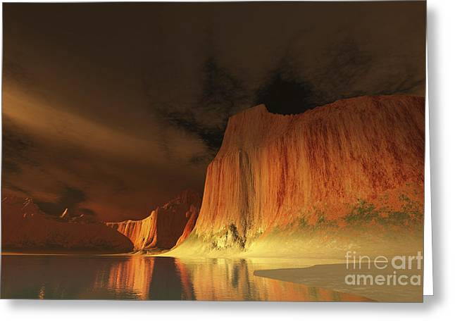 Creativity Desert Greeting Cards - Serene River Scene In The Canyonlands Greeting Card by Corey Ford