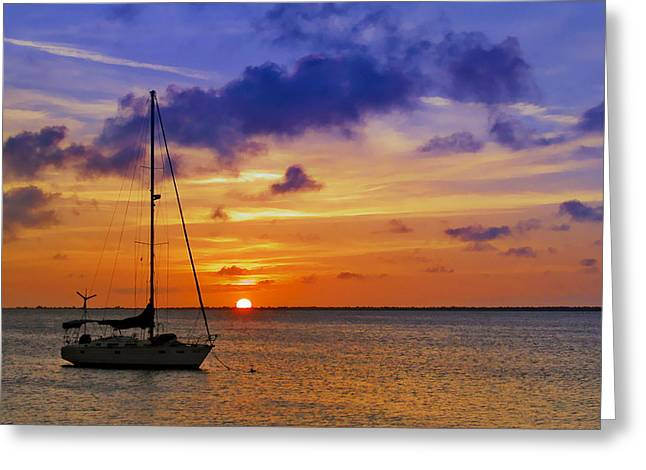 Bonaire Greeting Cards - Serenity 2 Greeting Card by Stephen Anderson
