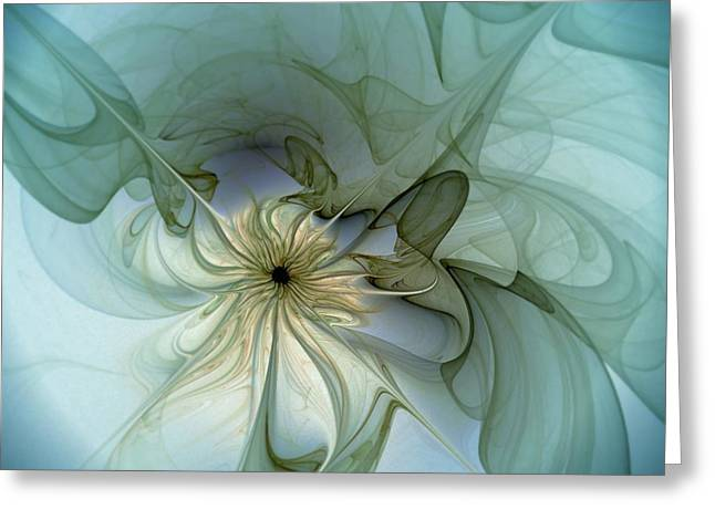 Floral Digital Art Greeting Cards - Serenity Greeting Card by Amanda Moore