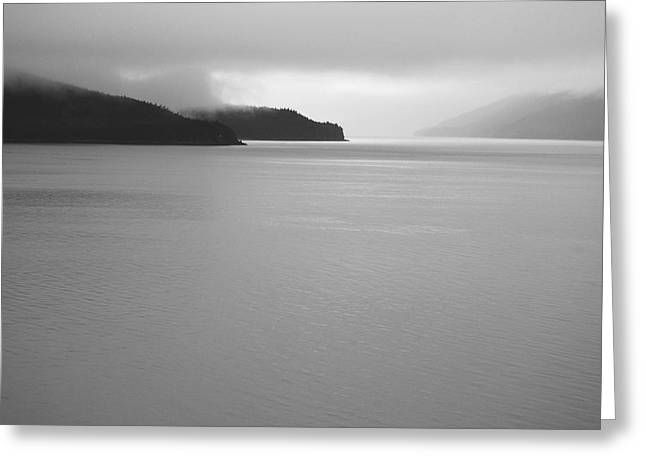 Serenity Bw Greeting Card by Michael Peychich