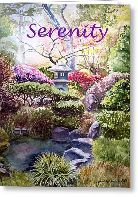 Enjoyment Greeting Cards - Serenity Greeting Card by Irina Sztukowski