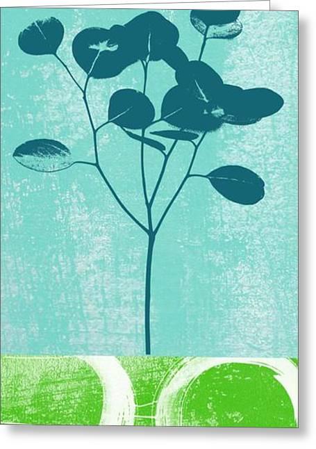 Yoga Studio Greeting Cards - Serenity Greeting Card by Linda Woods