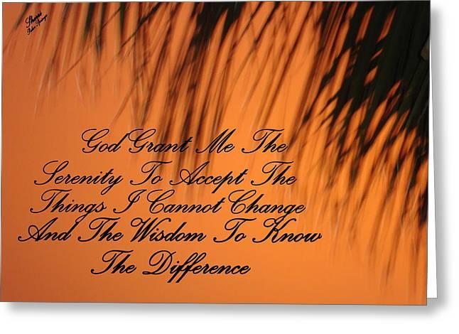 Digital Art Greeting Cards - Serentiy Prayer Greeting Card by Sherri  Of Palm Springs