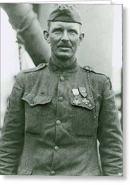 The 1% Greeting Cards - Sergeant Alvin York Greeting Card by War Is Hell Store