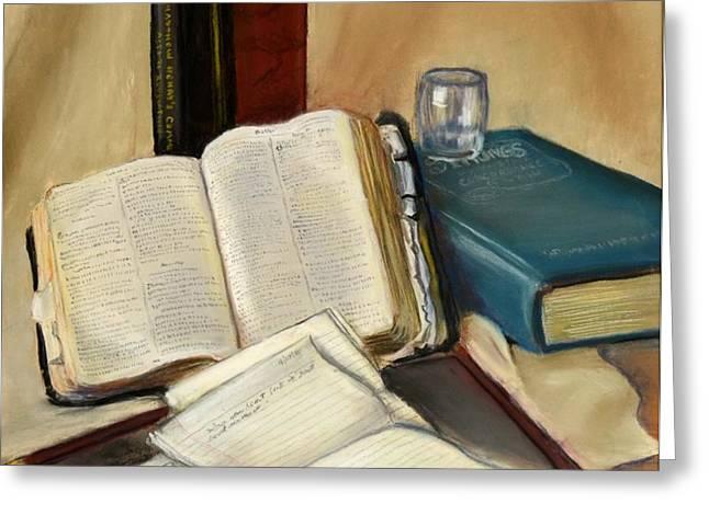 Sermon Preparation Greeting Card by Rita Lackey