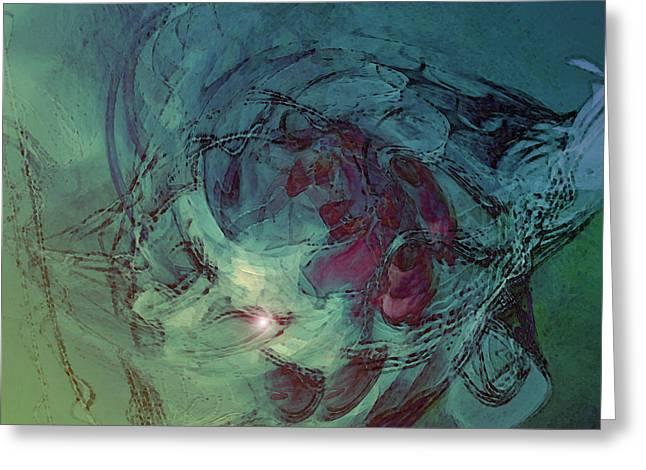 Fineartamerica Digital Art Greeting Cards - Serpent Head Greeting Card by Linda Sannuti