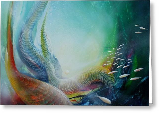 Serpula Spiralis Greeting Card by Drazen Pavlovic
