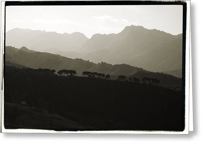 Serrania Greeting Cards - Serrania de Ronda Greeting Card by Brian Grady
