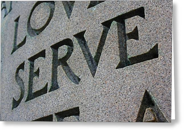 Serve Digital Art Greeting Cards - Serve in Stone Greeting Card by Geoff Strehlow