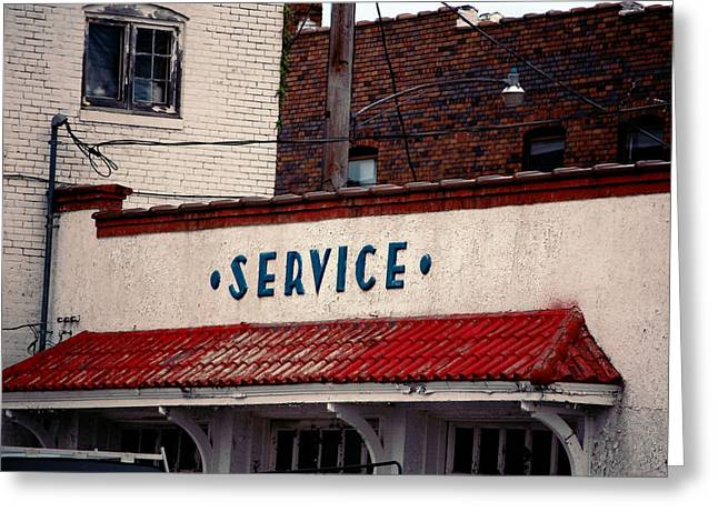Service Station Greeting Cards - Service Greeting Card by Jame Hayes