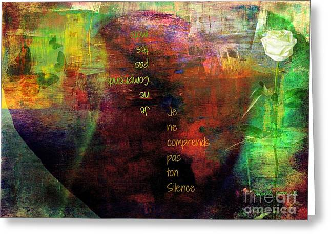 Sharing Mixed Media Greeting Cards - Serving in Silence Greeting Card by Fania Simon