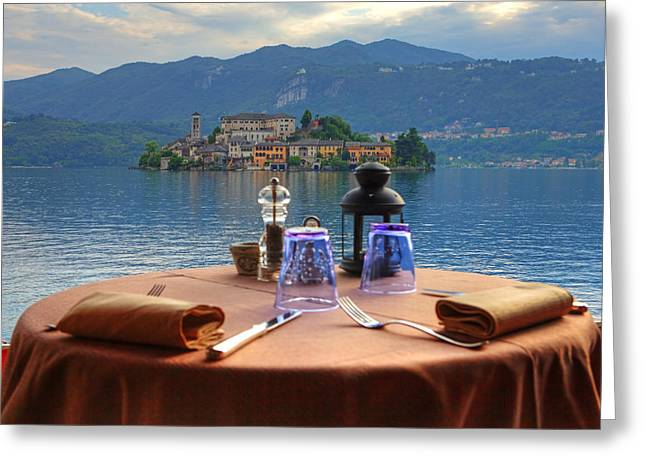Set Table With A View Greeting Card by Joana Kruse