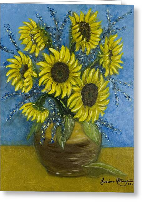 Girasole Greeting Cards - Sette Girasole Greeting Card by Luciano Adragna