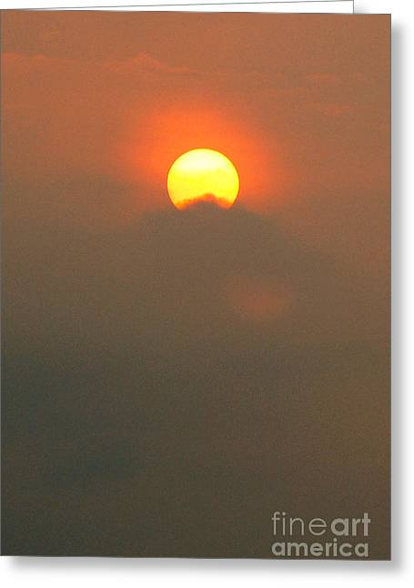Photography Greeting Cards - Setting Sun Greeting Card by Pravine Chester