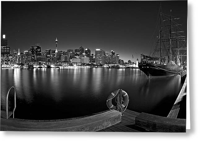 Darling Harbour Greeting Cards - Settled in Retirement Greeting Card by Mark Lucey