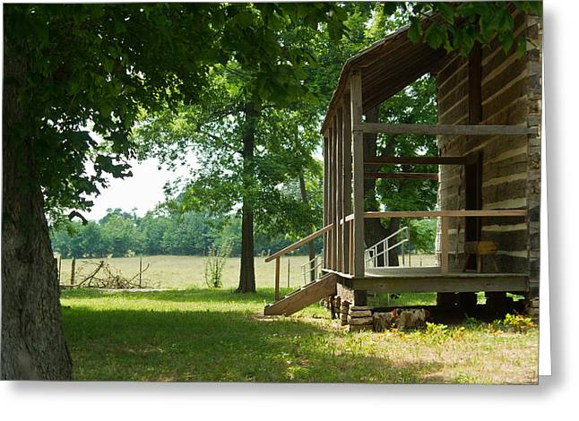 Settlers Cabin Arkansas 4 Greeting Card by Douglas Barnett