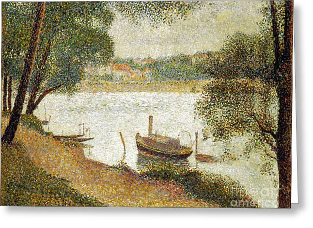 Seurat Greeting Cards - Seurat: Gray Weather Greeting Card by Granger