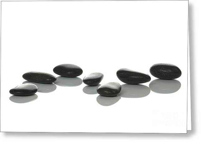 Wellbeing Greeting Cards - Seven Pebbles Greeting Card by Richard Thomas