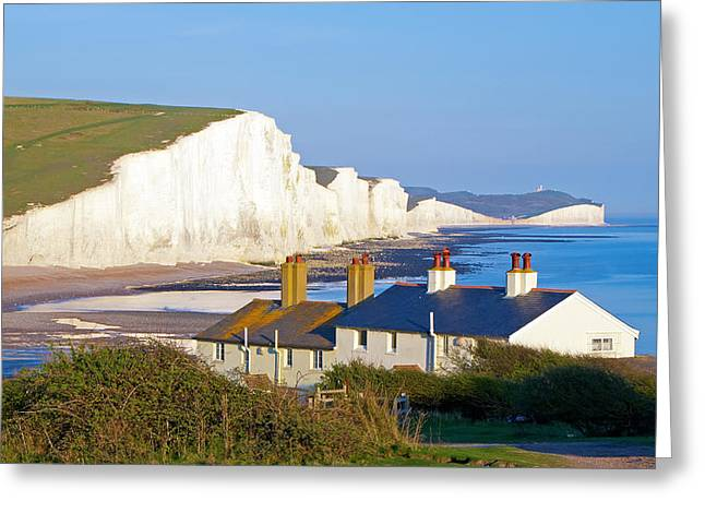Seven Sisters Cottage View Greeting Card by Michael Stretton