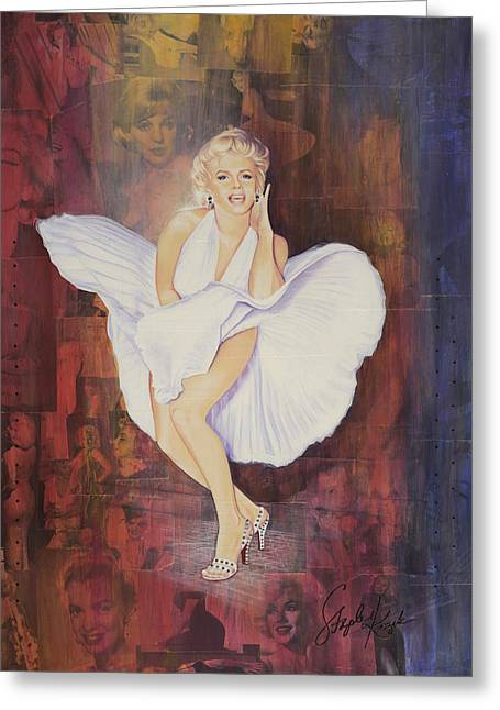 Grate Paintings Greeting Cards - Seven Year Itch Greeting Card by Stapler-Kozek