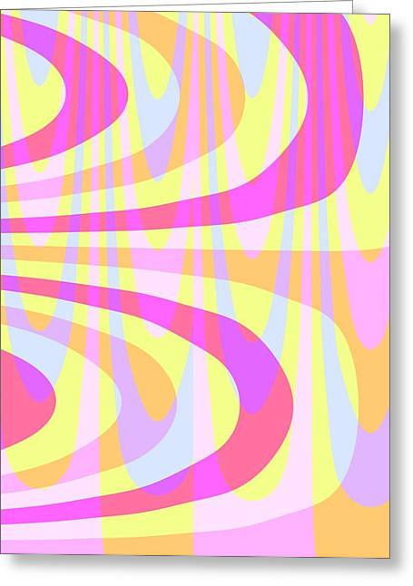 Bold Style Greeting Cards - Seventies Swirls Greeting Card by Louisa Knight