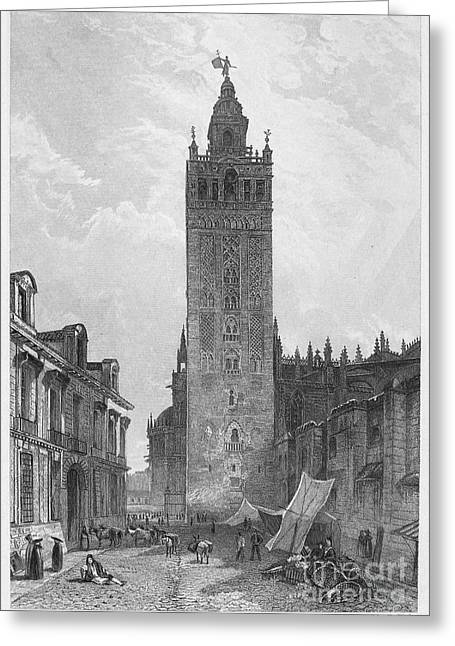 1833 Greeting Cards - Seville: The Giralda Greeting Card by Granger
