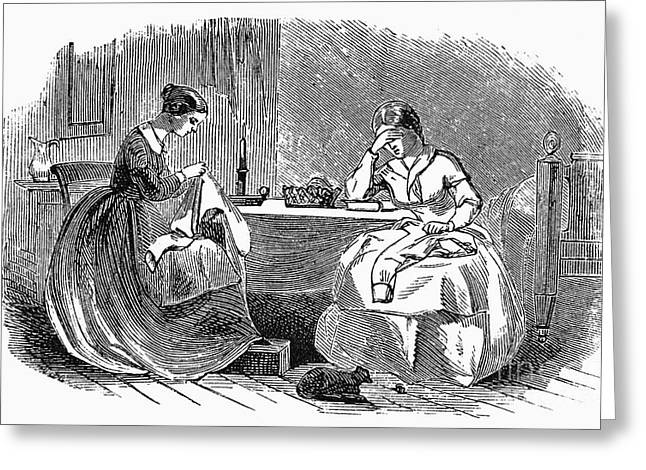 Apron Greeting Cards - SEWING, 19th CENTURY Greeting Card by Granger