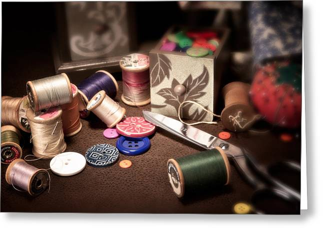 Spool Greeting Cards - Sewing Notions I Greeting Card by Tom Mc Nemar