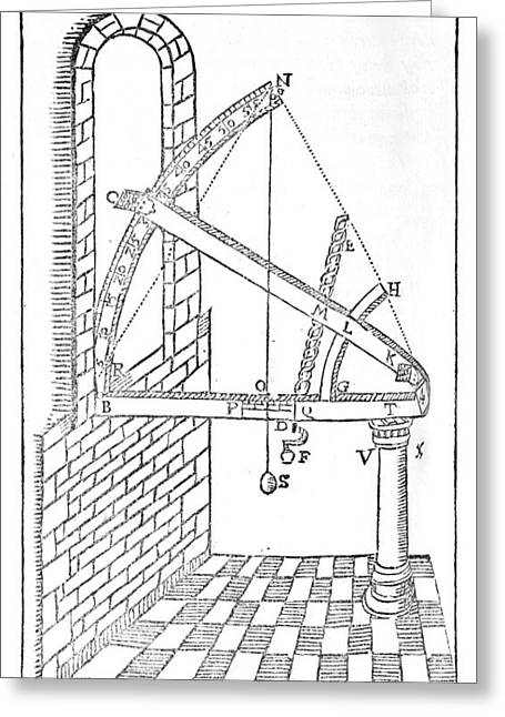 European Artwork Greeting Cards - Sextant, Historical Diagram Greeting Card by Middle Temple Library