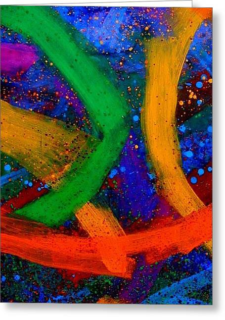 Colours Mixed Media Greeting Cards - Sextet   IV  Greeting Card by John  Nolan