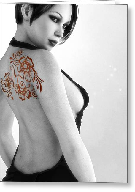 Female Body Greeting Cards - Sexy Back Greeting Card by Alexander Butler
