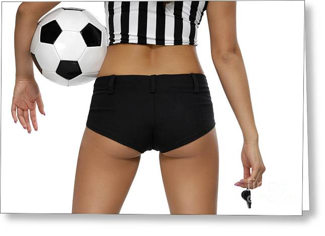 Referee Greeting Cards - Sexy Referee Greeting Card by Oleksiy Maksymenko