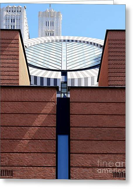 Mario Botta Botta Greeting Cards - SF Museum Of Modern Art SFMOMA Greeting Card by Wingsdomain Art and Photography