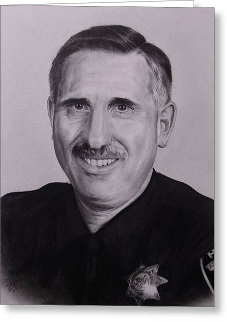 Police Officer Drawings Greeting Cards - Sgt. Weaver Greeting Card by Patrick Entenmann