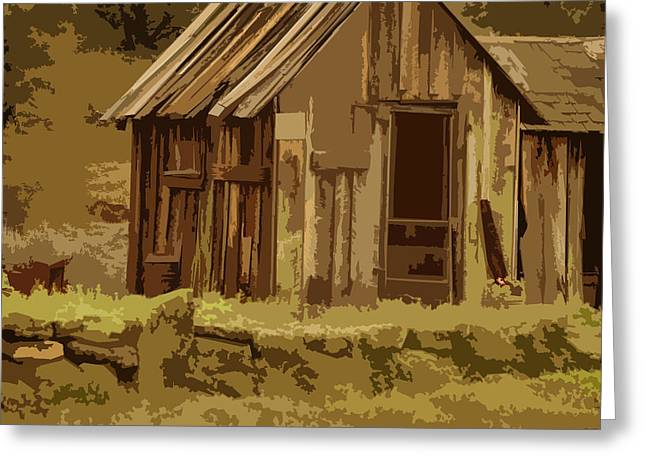 Old Shack Greeting Cards - Shack Greeting Card by Bonnie Bruno