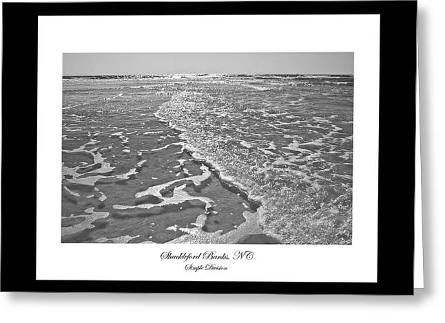 Sand And Sea Greeting Cards - Shackleford Banks Simple Division Greeting Card by Betsy C  Knapp