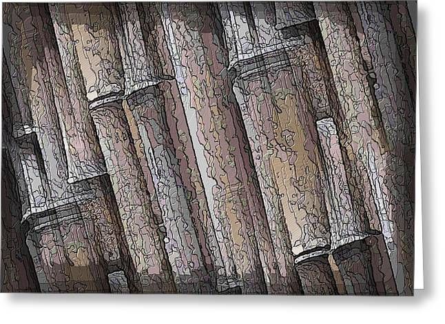 Jagged Border Greeting Cards - Shades Of Bamboo Greeting Card by Tim Allen