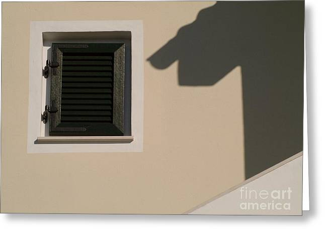 Shadow And Windows Greeting Card by Odon Czintos