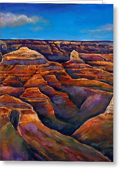 Impressionistic Greeting Cards - Shadow Canyon Greeting Card by Johnathan Harris