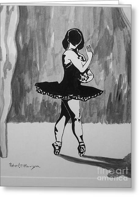 Roberto Mixed Media Greeting Cards - Shadow Dancer Greeting Card by Roberto Edmanson-Harrison