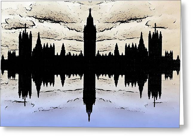 Politics Prints Greeting Cards - Shadow Goverment Greeting Card by Sharon Lisa Clarke